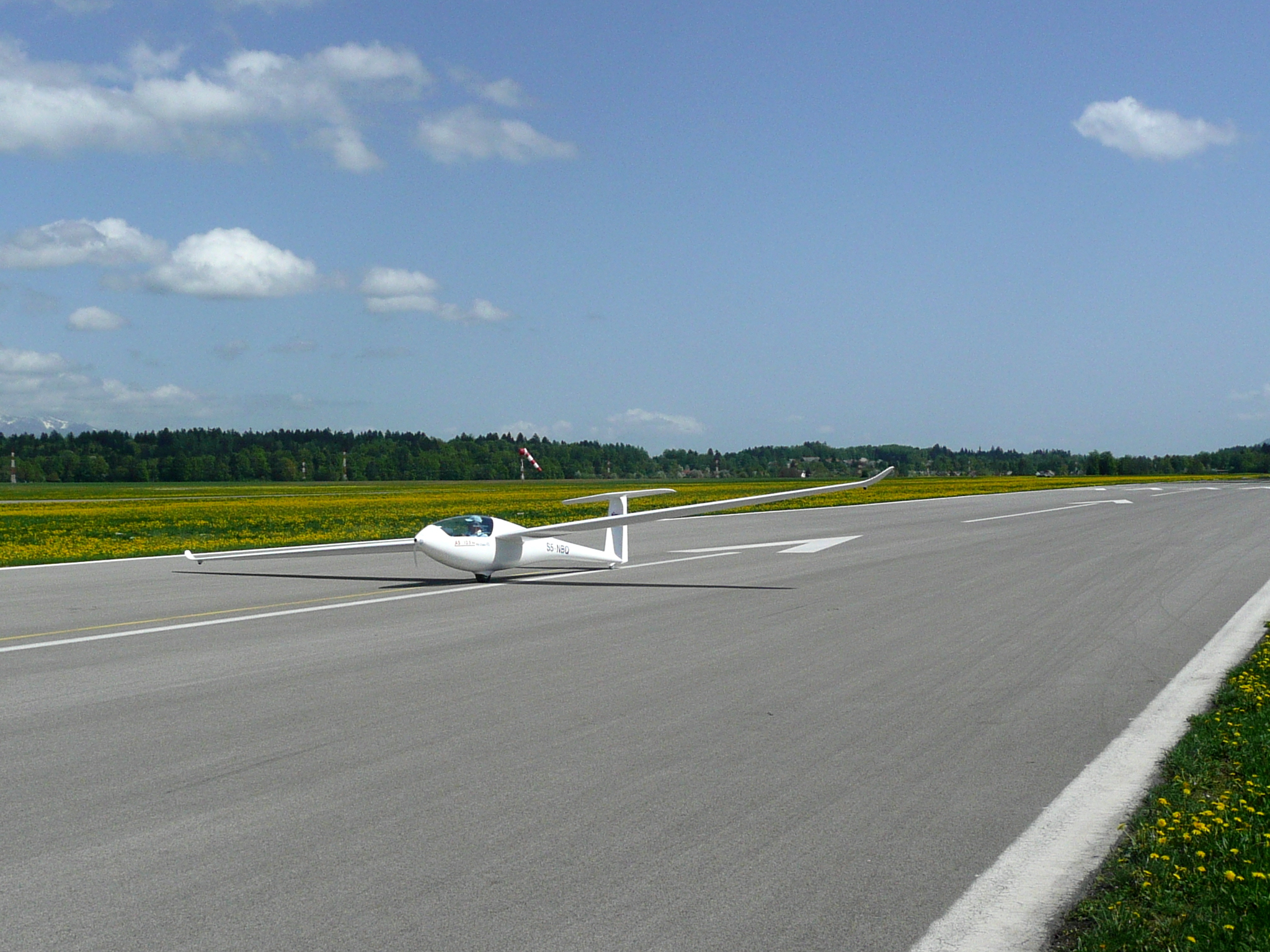 Albastar single seat glider AS 13,5 m FAI - perfect wing profile